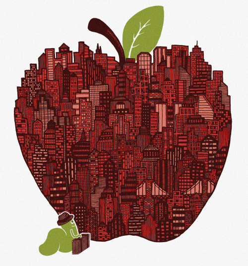 jjjjeremy:  Little Worm, Big Apple  Score some submissions and help designs like this get printed!