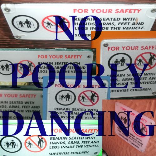 My brother and I always thought it looked like the sign said no poorly dancing and we would say that every time we got on a ride. I took some of these pictures a couple years back and finally figured out what to do with them.