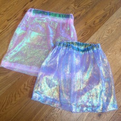studdedpetals:  made these holographic skirts wahey