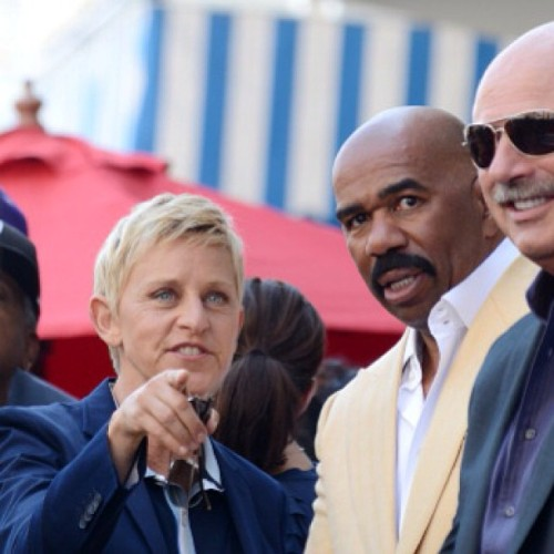 #ellen #ellendegeneres #steveharvey #walkoffame #cute #blonde #lovely #swag