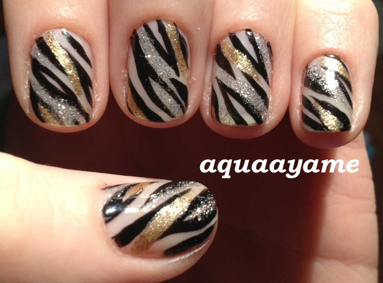 Gold and Silver Zebra