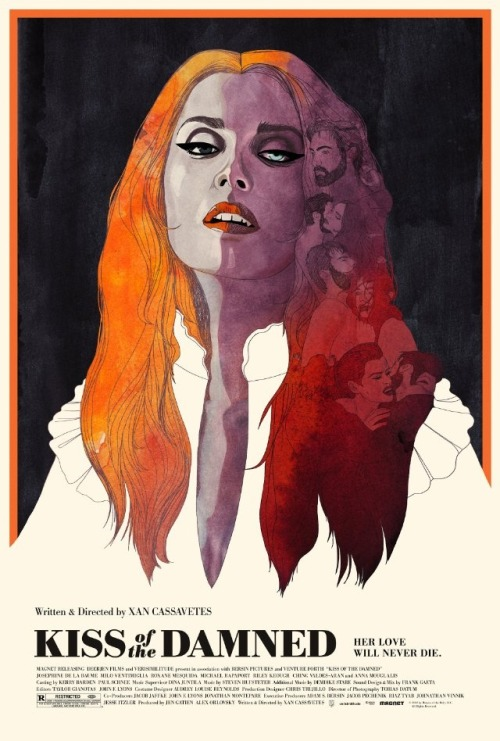 Kiss of the Damned movie poster, retro chic, love it! #cinephile #erotic #thriller