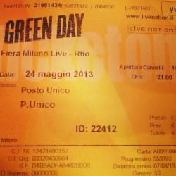 ONLY ONE WEEK LEFT #greenday #greendayitalia #fieramilano #rho #24maggio #concert #milano #italy #dreamscometrue #bestfriday #yeah #onlyoneweekleft
