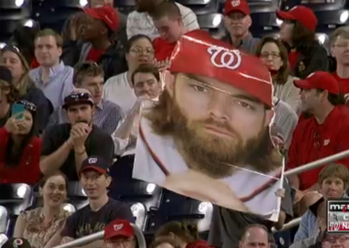 Someone at the Nats game tonight brought this giant Werth sign. Pretty awesome!