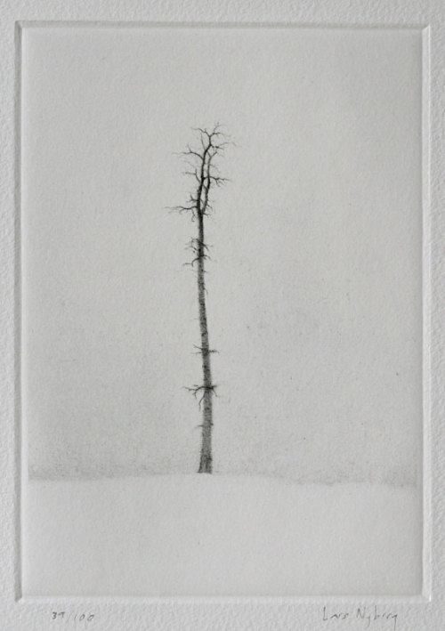 yama-bato:  Solitaire Technique: Dry-point Printer: Lars Nyberg