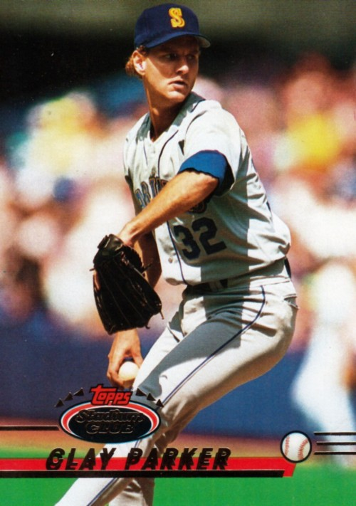 Random Baseball Card #2284: Clay Parker, pitcher, Seattle Mariners, 1992, Topps.