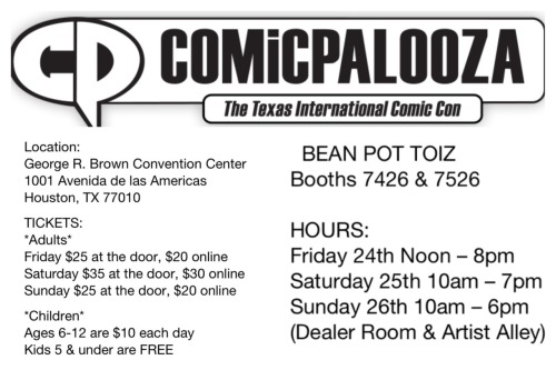 You've got until midnight to register for your Comicpalooza passes online! Save a few bucks & reserve your tickets today!
