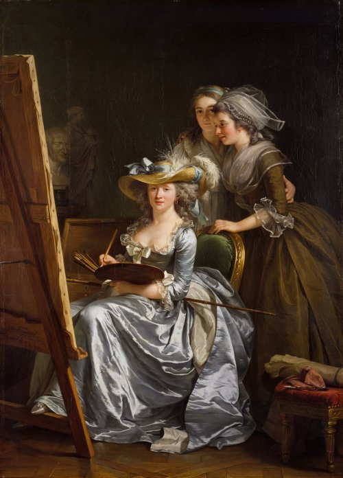 magickalshenanigans:  art—herstory:  Adélaïde Labille-Guiard, Self-portrait with two pupils, c.1785 (The two pupils are Marie-Gabrielle Capet and Carreaux de Rosemond)       Having a character named Adalaide, this needs to be reblogged. Also because of awesome female artists in the 1700s, but still.