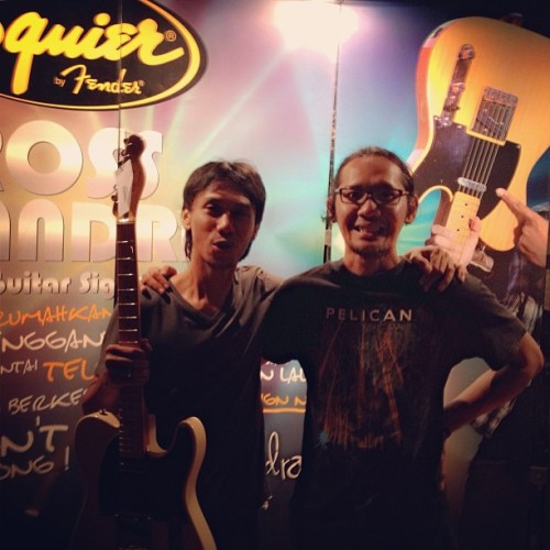 Congratulation for @erosschandra @fenderguitar guitar signature, respect 👏👏👏