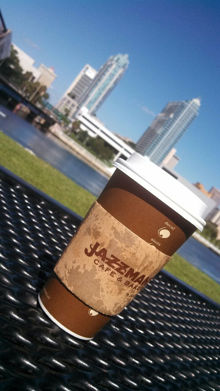 Enjoying some tea from Jazzman's while studying outside for my finals. Anyone else getting their studying done today?
