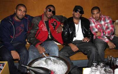 Fabolous wearing that Polo Ralph Lauren Leather & Canvas NYC Varsity Jacket. This Polo red cotton body varsity jacket with grey leather sleeves is an amazing piece with cool patch details.