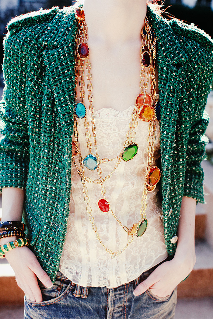 BAUBLE OF THE DAY A neck full of easter eggs… source: seaofshoes.com