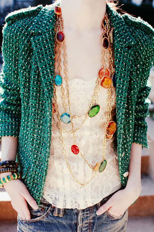 lulufrost:  BAUBLE OF THE DAY A neck full of easter eggs… source: seaofshoes.com