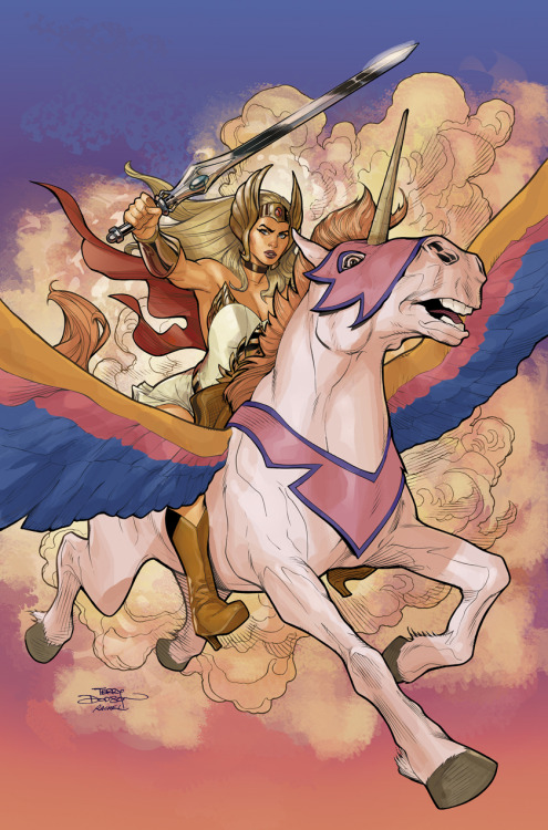 He-Man and the MofU #1 She-Ra Variant Cover Final by *TerryDodson