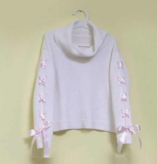 sweater cute girly pretty sweater cute sweater ribbon winter turtleneck aliexpress 25