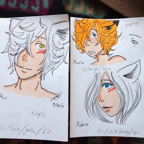 Doodling ocs~ #art #doodle #sketch #sketchbook #ocs #foxes #handsome #cute #pretty #markers #copics