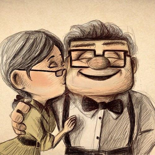 Carl & Ellie | via Facebook on @weheartit.com - http://whrt.it/191GmIu  This is what I want with my boo boo
