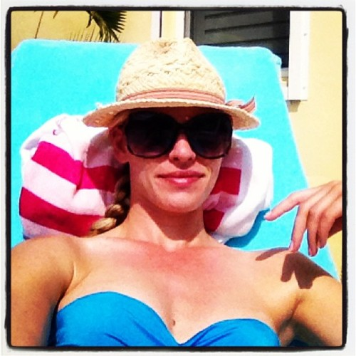 Catching some much needed rays and relaxation #summer #sunbathing #SPF50