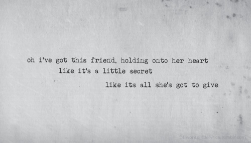"The Civil Wars, ""I've Got This Friend"""
