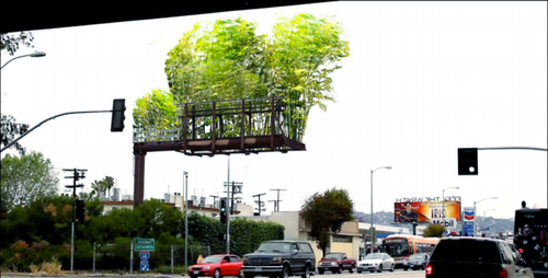 laughingsquid:  Urban Air Project, Converting Billboards into Bamboo Gardens