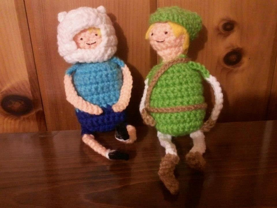 Cute Legend of Zelda and Adventure Time Crochet Dolls From Beauty in the Geek shop owner Amanda Laven, these great dolls of Finn and Link would be a fantastic addition to any Adventure Time or Legend of Zelda fans' collection. Also, I absolutely love Link's face. It is quite adorable and brings him into the Adventure Time universe. I'd love to see a crossover episode. Beauty in the Geek also has a few other adorable pieces including LSP, a Creeper and Pikmin. Check It: Exclusive Sneak Peak of the New Adventure Time SeasonBuy It: Knits for Nerds