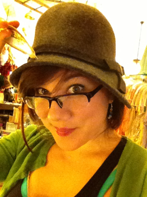a fancy hat from la france, which i'm pretty sure is the oldest shop in ybor.