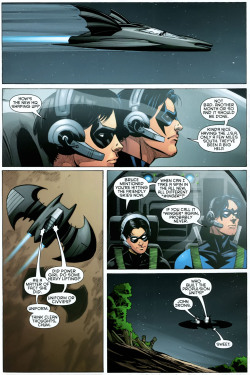 Here is some Dick and Tim bonding from Nightwing #142. By the way… The adventure that follows is in #143, a great stand alone Nightwing issue with a self-contained little story.