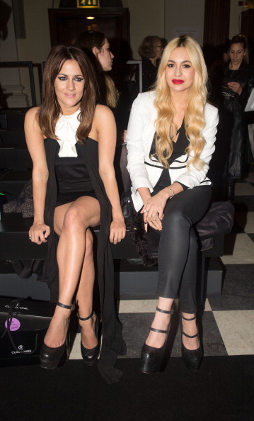 CAROLINE FLACK WEARING THE TRIALS DRESS http://bit.ly/WOGYwa & ZARA MARTIN WEARING THE TWO DIMENSIONS JACKET  http://bit.ly/Z5BPyk