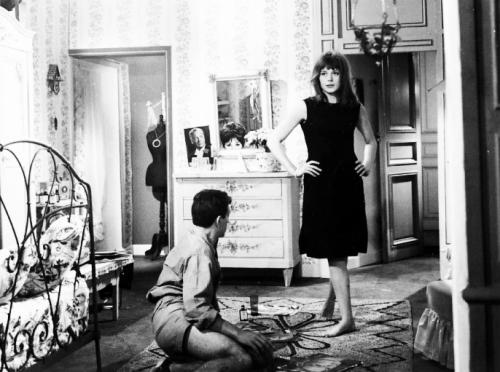 "francoisedorleacs:  Françoise Dorléac and Jean-Pierre Cassel in ""La gamberge"" (1962)"