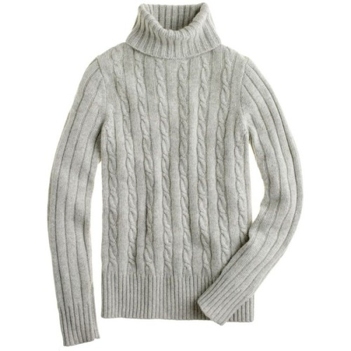 J Crew sweater   ❤ liked on Polyvore (see more cable knit turtleneck sweaters)