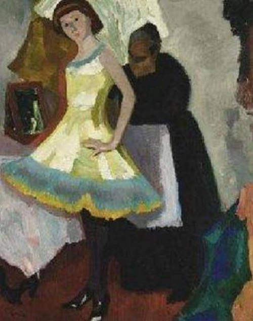 Kees Maks - Fitting a dress (1928)