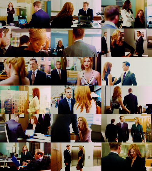 harrietspecter:  tickles my pickle | suits + donna/harvey : season two (so far) times harvey and donna pretend they aren't married asked by agentconrad
