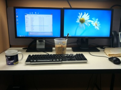 Check out my new battle station at work!