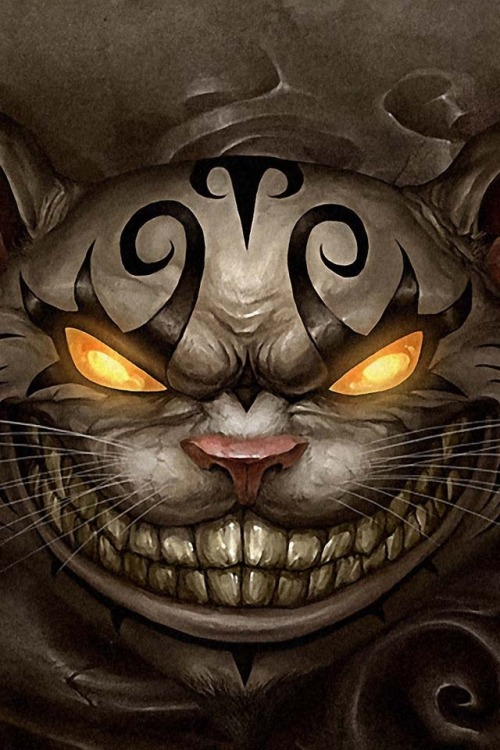 monkeyballxs:  Very scary Cheshire Cat