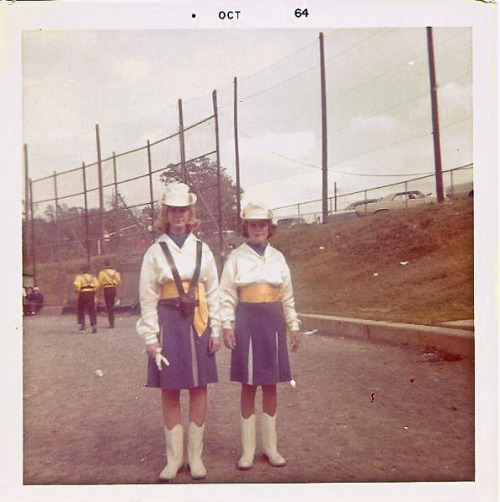 rudibass:  My sister(r) and aunt(l) 1964 - Lindenaires an all girl corps from Lindenwold, NJ.