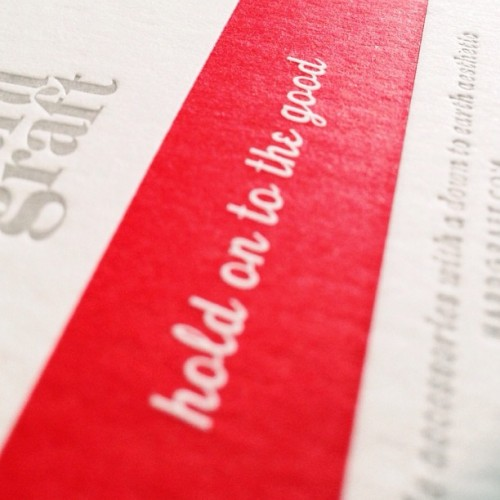 #holdontothegood - Our new #letterpress business cards #hardgraft