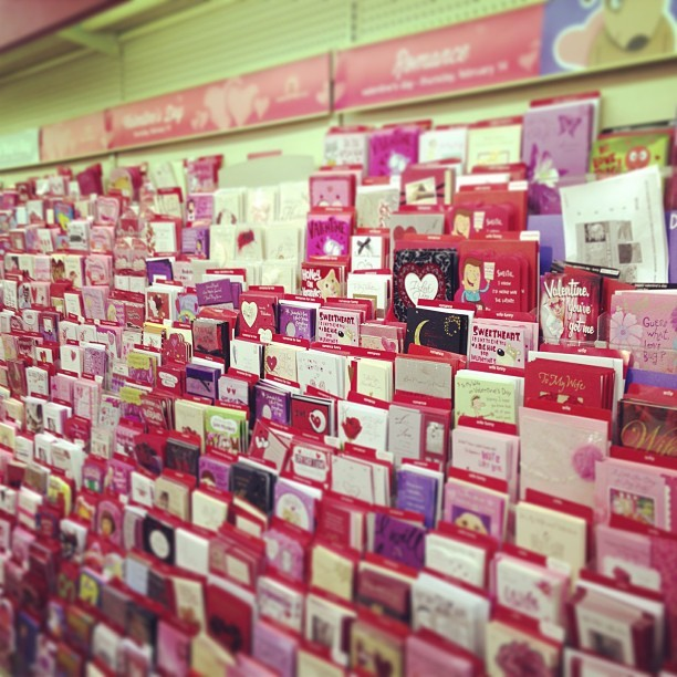Valentines cards already for sale. Fuck off.