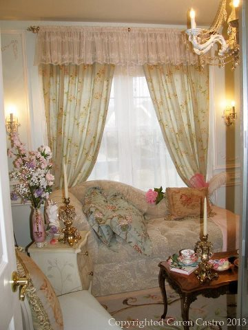 Beautiful 1:12 scale miniature sitting room by Caren Castro
