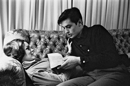 Alain Delon reads. eh-bien:  In love, we have to dare everything if we really love. Alain Delon