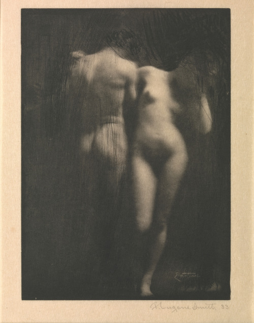 bildwerk:  Adam and Eve  Frank Eugene (American, New York 1865–1936 Munich) Date: 1900s, printed 1909 Photogravure 17.8 x 12.8 cm. (7 x 5 1/16 in.)