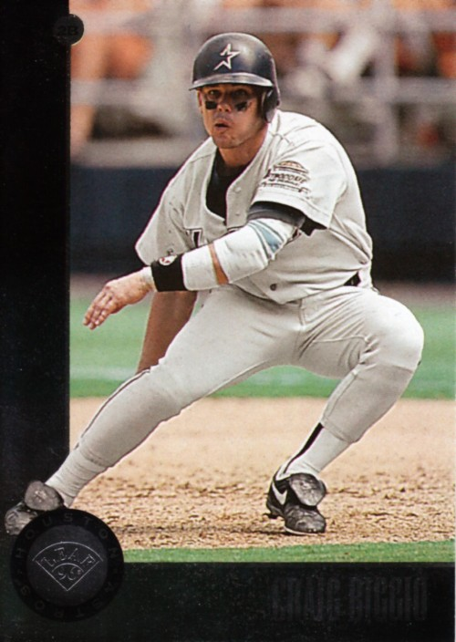 Random Baseball Card #2350: Craig Biggio, second baseman, Houston Astros, 1996, Leaf.