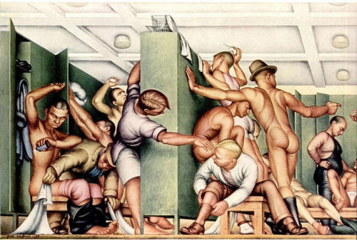 yourehorrible:  YMCA Locker Room by Paul Cadmus