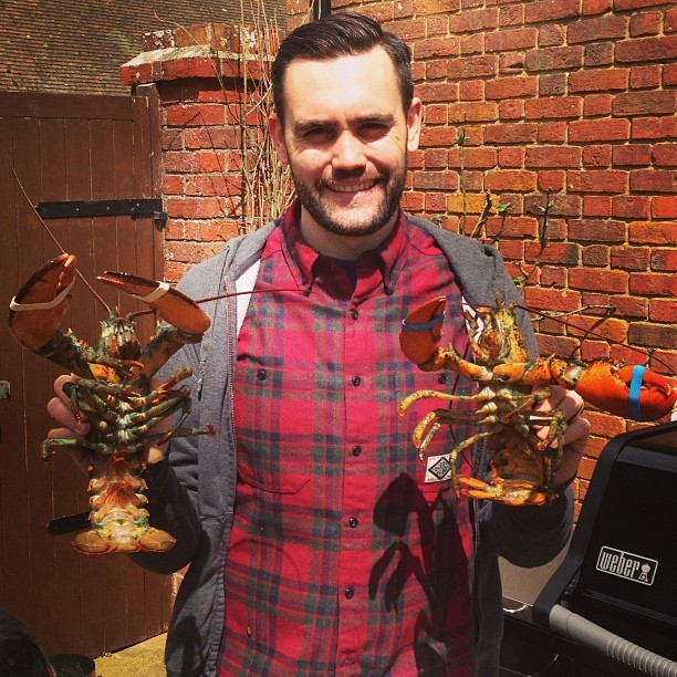 Dinner…but first a bit of lobster murder. @ryancoleuk  #lobster #bbq  (at The River House)
