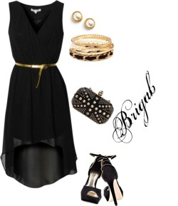 sexy por brigab con skull handbagsGlamorous hi low chiffon dress, $30 / Skull handbag / Forever 21 chain link jewelry / Kate Spade post earrings