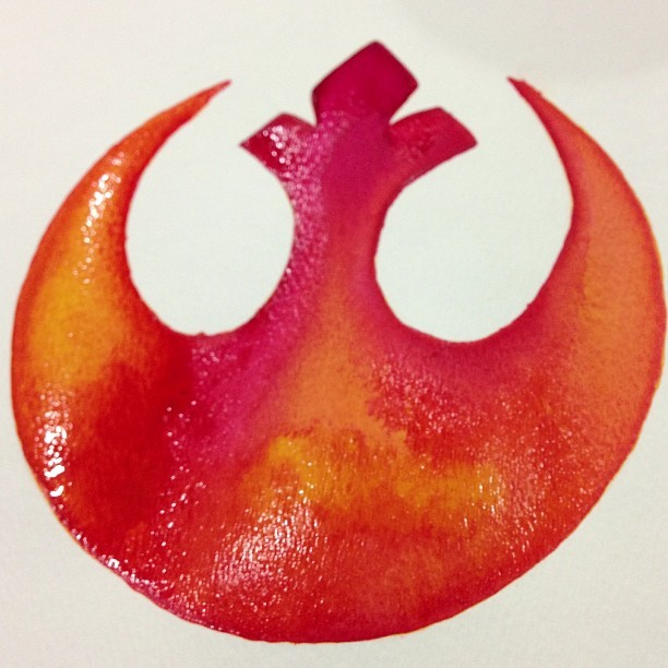 Waiting for it to dry. #starwars #rebelalliance #rebel #rebels #rebelscum #watercolors #art