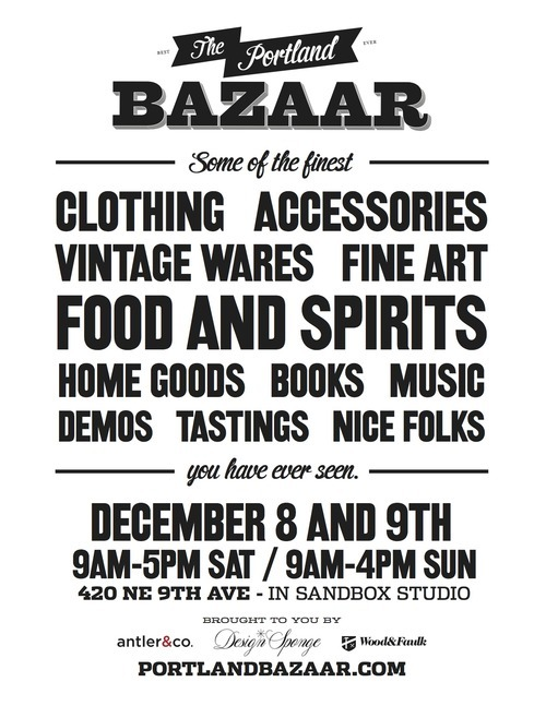 We'll see you this weekend at the Portland Bazaar. We'll be passing out a limited supply of free soap samples, come say hello early!