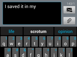 textpoops:  Thank you SwiftKey for providing the most accurate word predictions