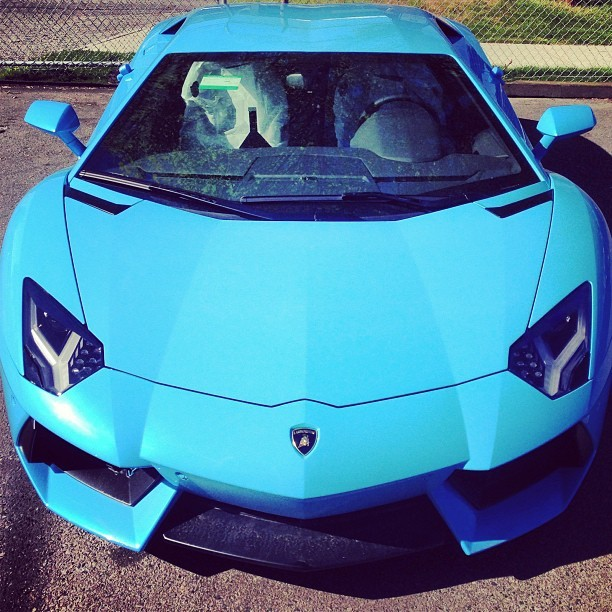 Brand new beautiful sky #blue #lamborghini #lp700 #aventador with #black #wheels. #vancitysupercars