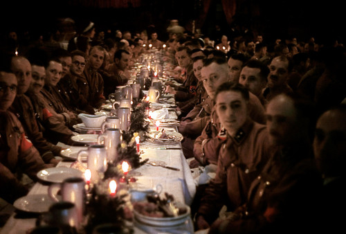 collective-history:  Inside a Nazi Christmas Party thrown by Adolf Hitler for his generals, 1941.