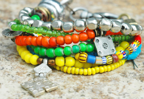 Custom One & Only Bracelet: Exotic, Soulful and Colorful Beaded Bohemian Charm Bracelet Click here to purchase